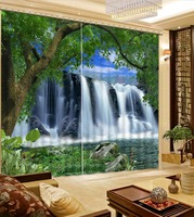 Home Decor Living Room Natural Art Green Forest Scenery Custom Curtains For Living Room Fashion Decor