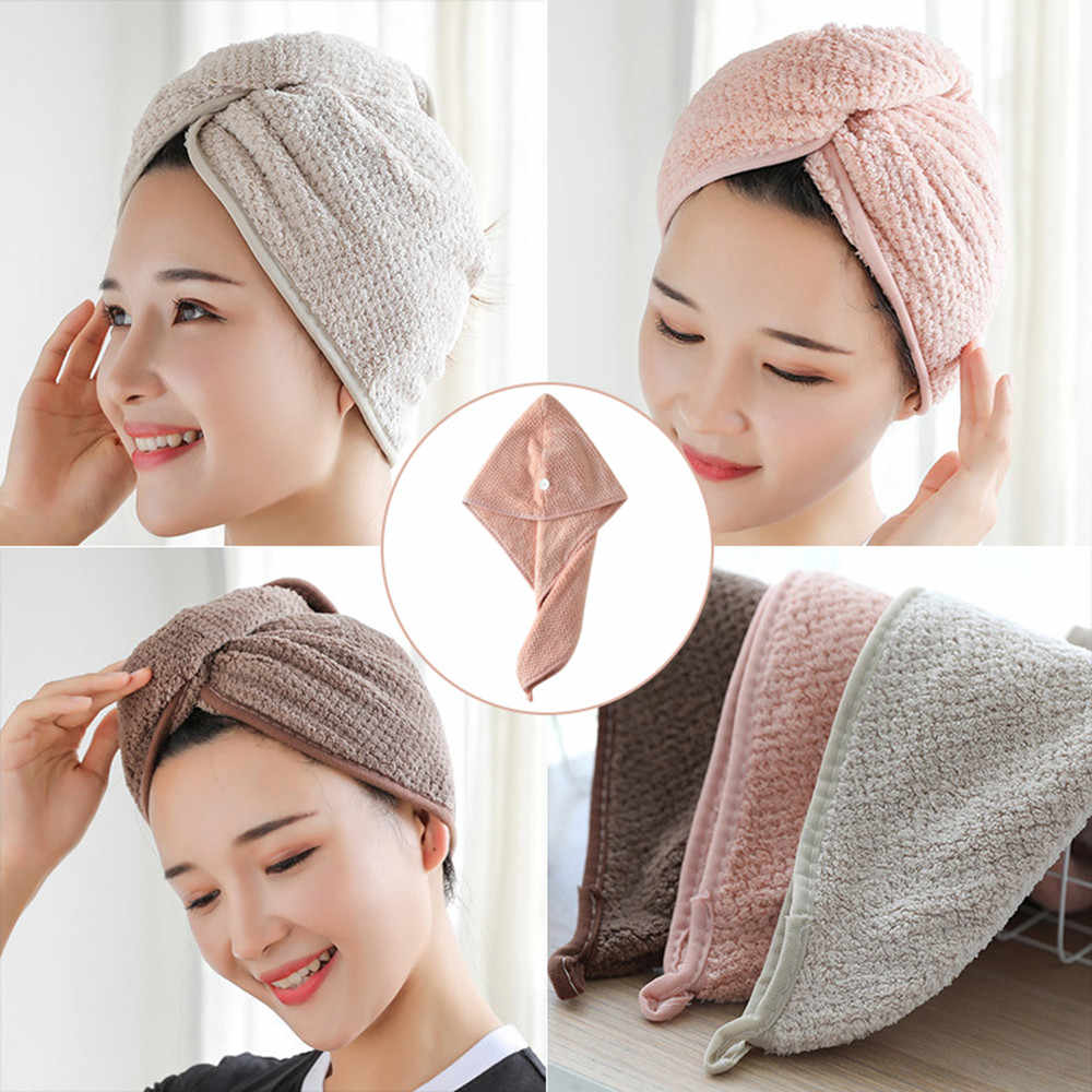 2019 Quick drying towel shower cap quick drying towel baotou towel adult shower cap useful shower cap hair wraps
