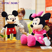 1pc 70/90cm Huge Size Mickey & Minnie Plush toy kawaii Hot Anime Dolls Stuffed Soft toys for Children Kids Popular Birthday Gift