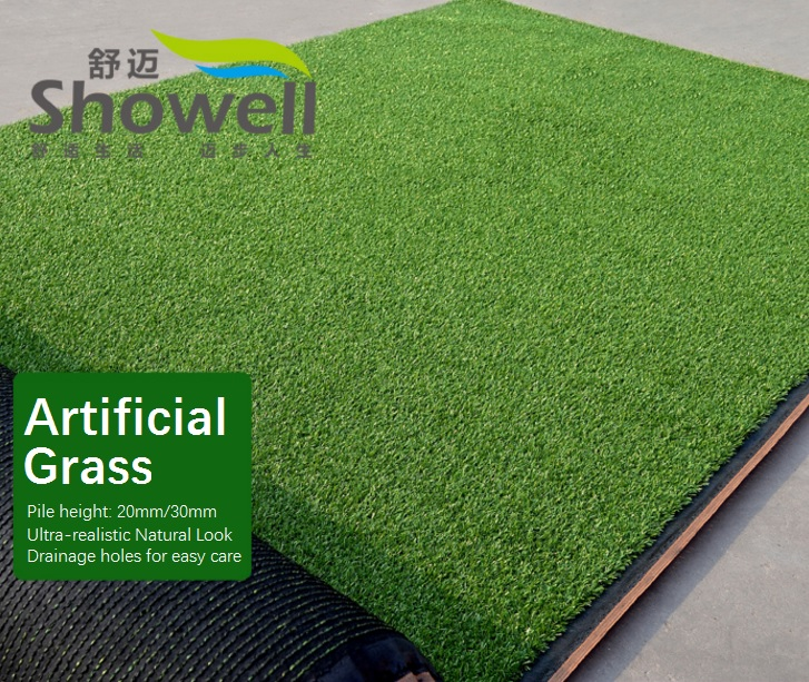 Green Artificial Grass, Outdoor Carpet, Turf Area, 1x1m, Solid Design 2.4kg/m2