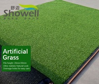 Green Artificial Grass Outdoor Carpet Turf Area 1x1m Solid Design 2 4kg M2