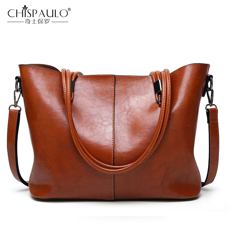 Fashion Leather Women Bags Large Capacity PU Ladies Handbags High Quality Oil Wax Leather Shoulder Bags Female Casual Tote fashion brand design sweet lady tote bags for women pu leather handbags high quality women shoulder bags ladies messenger bags