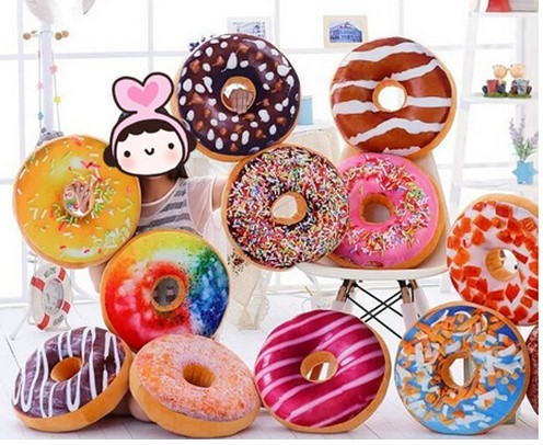 Free shipping 40cm Sweet donut ,lovely doughnut chocolate cake    children kids girls boys plush toys plush candy