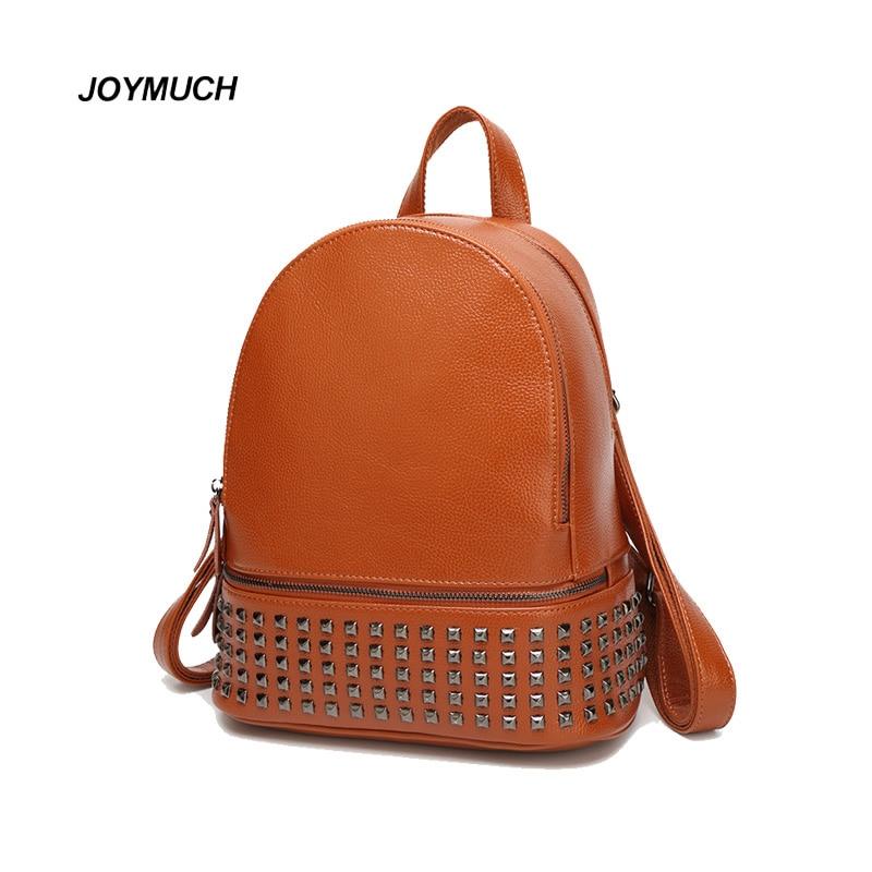 2017 summer new rivet shoulder bag trend punk wind simple casual female bag backpack