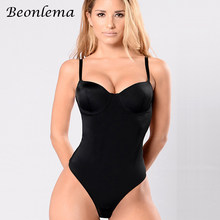 c015b568bd5 Beonlema Body Shaper Bodysuit Sexy Waist Trainer Slimming Underwear Corset  Backless Push Up Black Bodysuit Shaperwear Women Tops