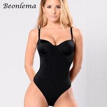 Beonlema Body sculpteur noir, Body Sexy, entraîneur de taille, Corset, dos nu, Push Up, haut pour femmes, sous vêtements amincissants