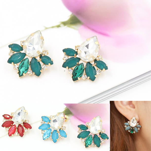 Shiny Rhinestone Crystal Stud Earrings