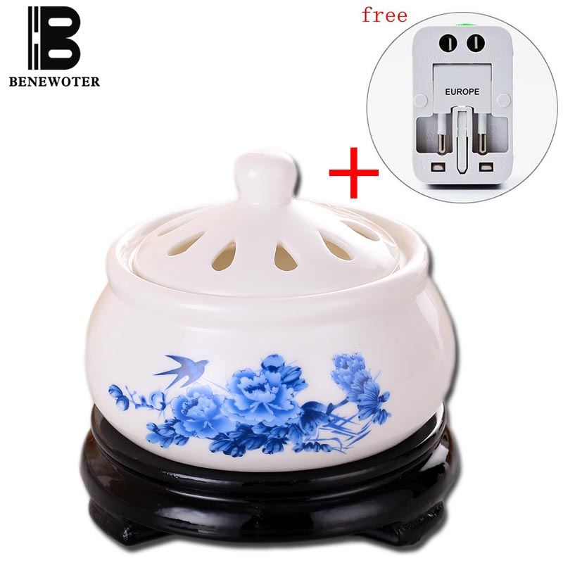 220V Creative Timing Electric Plug Ceramic Perfume Diffuser Aromatherapy Furnace Powder Incense Essential Oil Aroma Burner Decor ...