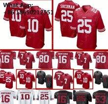 10 Jimmy Garoppolo 7 Colin Kaepernick San Franciscos 49ers Jersey 25 Richard  Sherman 16 Joe Montana 28cbcc983