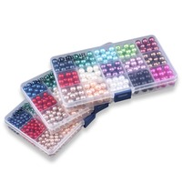 Pick 15 Colors 6 8 10mm Round Pearl Imitation Plastic Pearl Beads For Jewelry Accessories