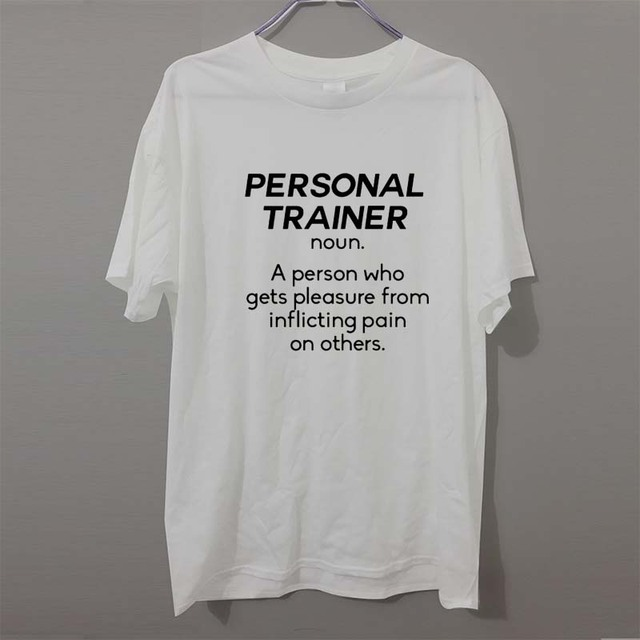 3908ecca NOUN PERSONAL TRAINER Funny T-Shirts Men Brand Clothes Casual Fashion Short  Sleeve Men's T Shirt