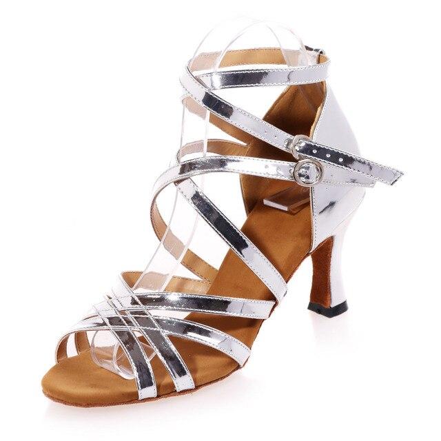 Metallic gold argento crossed della fascia della ragazza sandali donna  danza jazz latino scarpe da ballo d3cd278ddfff