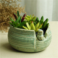KEYBOX Owl Indoor Herb Garden Pots Wedding Favors And Gifts Ceramic Terracotta Pots Succulent Plant Pot