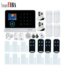 SmartYIBA APP Control Mutli Language Smarts Alarm System WIFI Network Camera Alarm Kits Include Glass Break