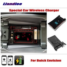 Liandlee For Buick Envision 2014~2018 Special Car Wireless Charger Armrest Storage iPhone Android Phone Battery