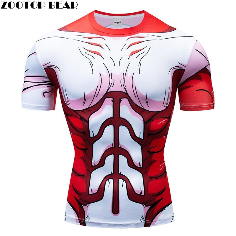 Red Dragon Ball t shirts Men Compression T-shirts 3D Qucik Dry Tops Tees  tshirts Fitness shirts Male Drop Ship ZOOTOP BEAR
