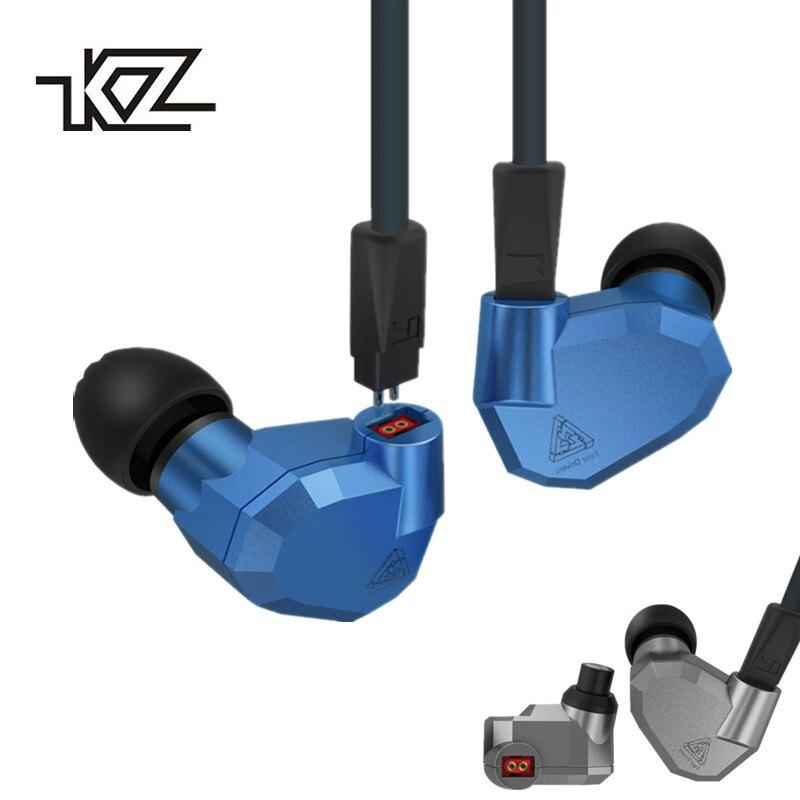 KZ ZS5 2DD + 2BA Hybride Dans L'oreille Écouteurs HIFI DJ Monito de Course Sport Écouteurs Boules Quies Casque Intra-auriculaires KZ ZST KA ZS6 Bluetooth Câble
