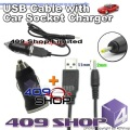USB charge CABLE w/12~24 Car power adaptor for UV3R