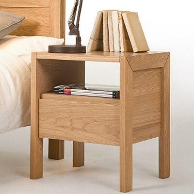 Japanese minimalist wood lockers IKEA bedroom nightstand drawer