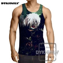 df80f498dd73c Dykhmily 2017 Summer Hot Sell Tokyo Ghoul Anime Character 3d Print Brand  Vest Cool Breathable Mens
