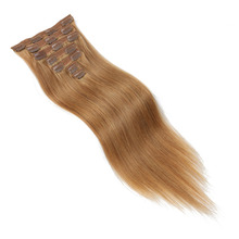 Double Drawn Remy Clip in Human Hair Extensions Straight 7pcs/set 100g-120g Nature Hair Clip in Hair Extension Full Head