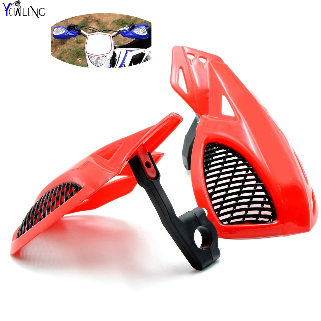 Dirt bike Motorcycle 7/8''22mm handlebar brake hand guard For HONDA CRF250 CRF450 CRF1000 CRM250  XR250 XR400 AR F L M R X dirt bike motorcycle 7 8 22mm handlebar brake hand guard for yamaha yz250x yz426f yz450f yz450fx yz80 yz85