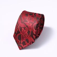 Luxury 6 CM Mens Print Pattern Ties for Slim Neckties Polyester Jacquard Skinny Neck Tie Wedding Narrow