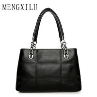 Big Women Bags Handbags Women Famous Designer Plaid Women Leather Handbags 2017 Luxury Ladies Hand Bags