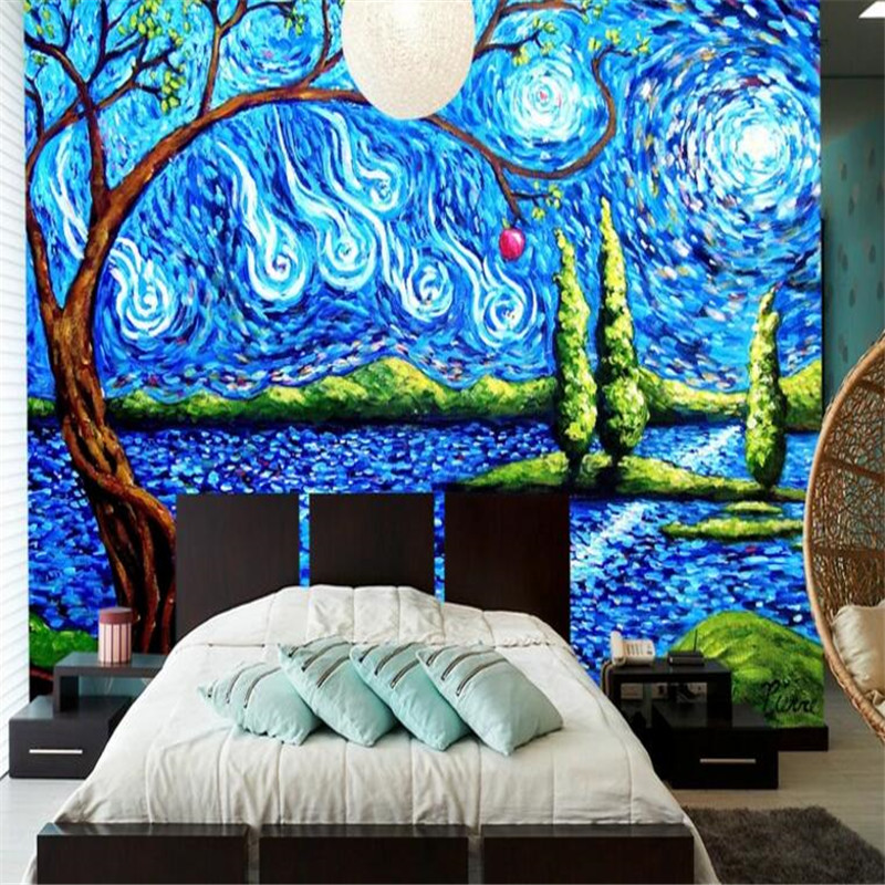 Custom Photo 3D Wallpaper Tree Forest Mural Abstract Art Painting Wall Murals for Living Room Home Decor Nature Landscape Woods custom 3d mural wallpaper european style painting stereoscopic relief jade living room tv backdrop bedroom photo wall paper 3d