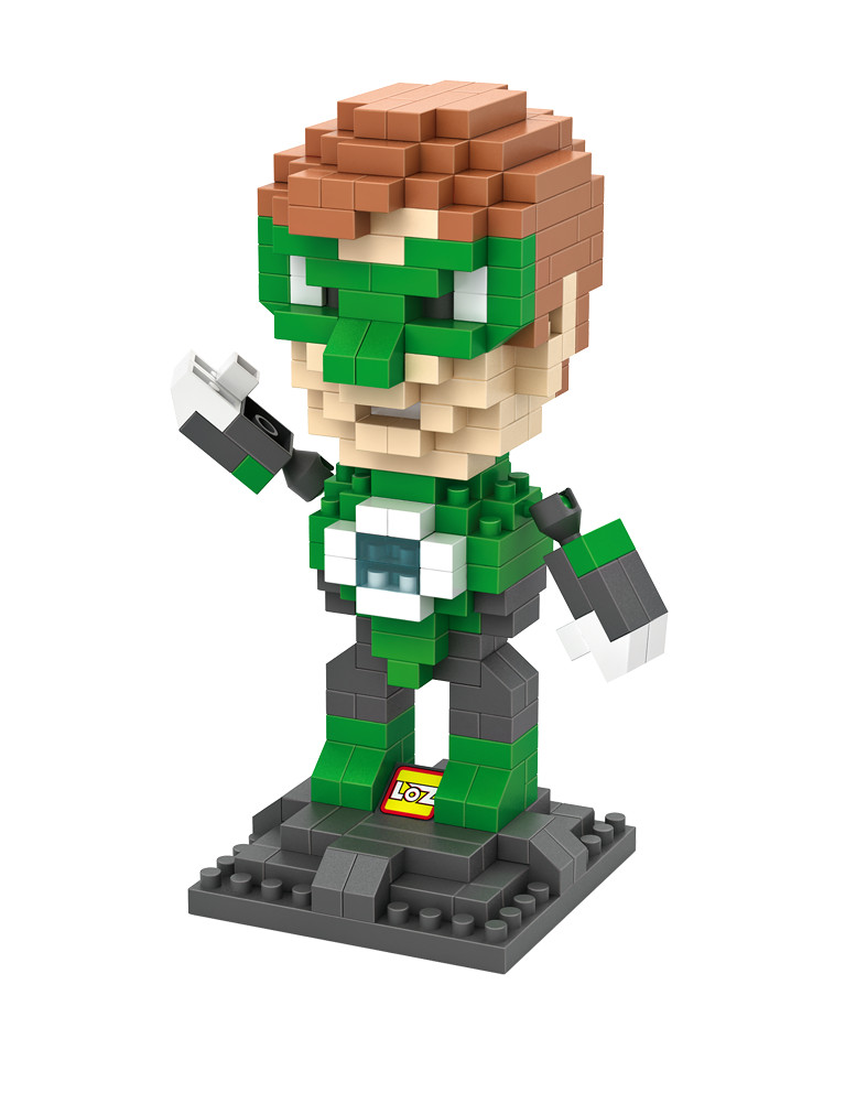 LOZ 9454 DC Heroes Green Lantern First Flight Educational Kid Diamond Bricks Minifigures Building font b