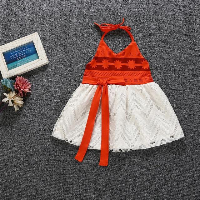 Vestido Moana de verano para niñas pequeñas, vestido hermoso sin espalda, vestido fantasía de Navidad para niñas, ropa de algodón con flores