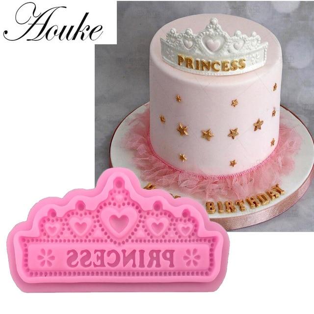 Aouke Prinzessin Crown Form Silikon Kuchen Formen Fondant Kuchen