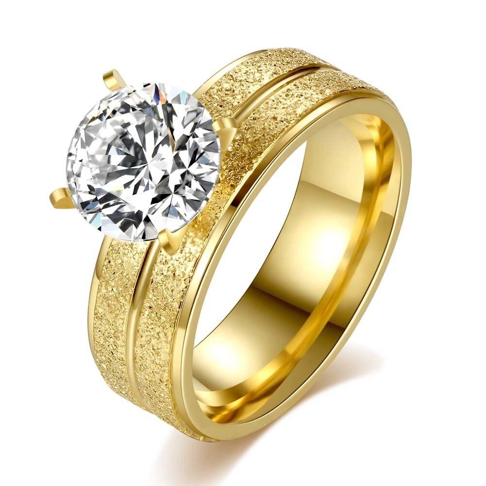 Нержавеющей Любители комплект кольца Круглый будет циркон кольцо Титан Покрытие Белое золото: война в раю кольцо внешней торговли оптовая ...