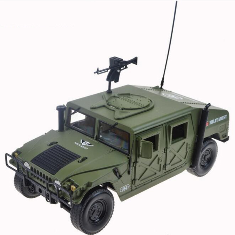 Brand New 1/18 Scale Car Model Toys Hummer Battlefield Vehicle SUV Diecast Metal Car Toy For Collection/Gift brand new norev 1 18 scale germany audi a4 dtm 2011 14 9 racing car diecast metal model toy for gift kids collection