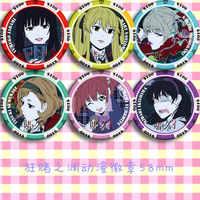 In Lager Anime Kakegurui: Zwanghaften Gambler Yomoduki Runa Saotome Meari Jabami Yumeko Cosplay Prop Abzeichen Brosche Abzeichen Emblem
