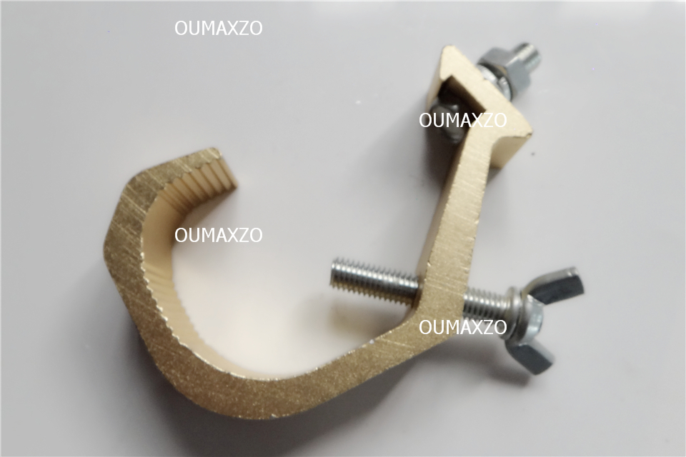 200pcs/lot Heavy duty hook aluminium truss tigger clamp stage light moving head led par hook style Eye Ring Coupler Pro O-Clamp