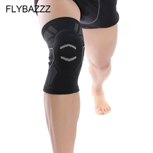 FLYBAZZZ New Style 3D Weaving Knee Support Kneepad Built-in EVA Foam Pad Sports Gym Fitness Cycling Hiking Protect Brace