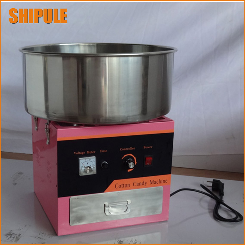 220v electric Pink color commercial Cotton candy maker marshmallow machine candy floss machine spun sugar machine 1030w electric commercial cotton candy maker fairy floss machine stainless steel pink