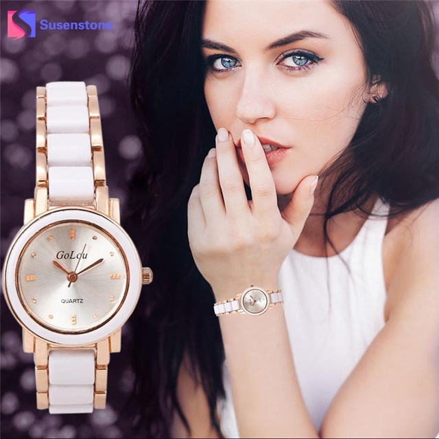 Luxury Watch Women Ceramic Stainless Steel Band Bracelet Watches Elegant Designe
