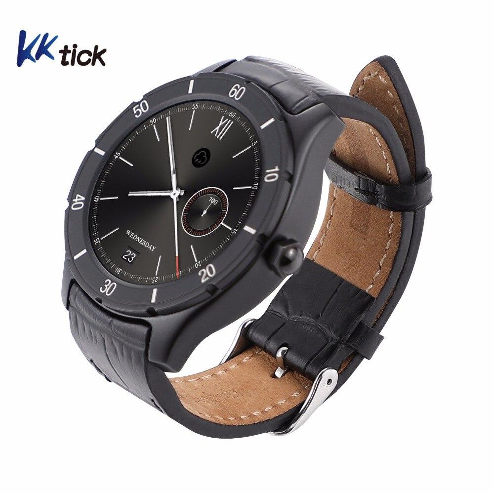 KKtick K22 1,3 pulgadas Android reloj inteligente 1g ROM 8g RAM Bluetooth 4,0 con WIFI GPS función del corazón monitoreo de velocidad Fitness Tracker