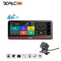 Dealcoo 8 Inch Dash Cam With ADAS 4G Car DVR GPS Navigation Tracker Android Bluetooth Full