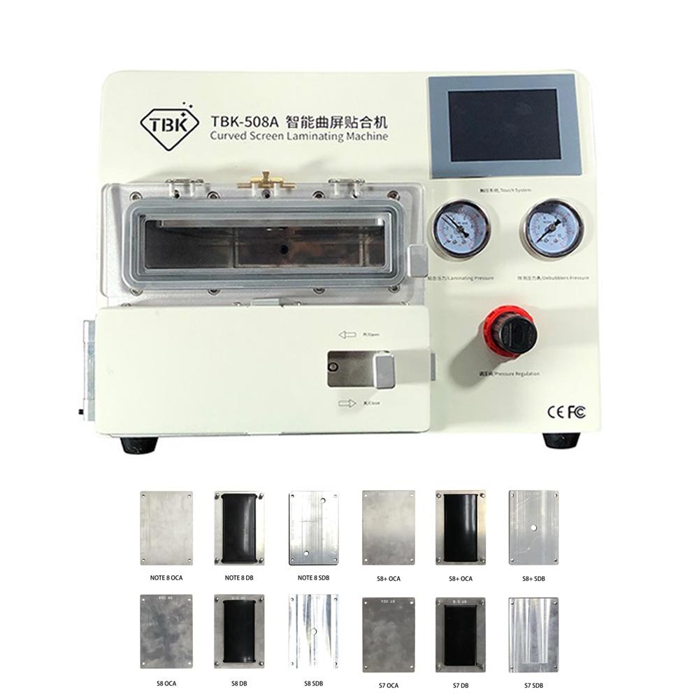 TBK-508A incurvé LCD écran vide Machine à plastifier Machine à démousser OCA réparation bulle dissolvant pour samsung iPhone S7 S8 S8 +