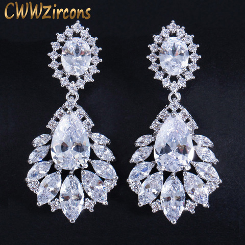 Купить cwwzircons элегантное украшение в форме люстры ааа+ длинные