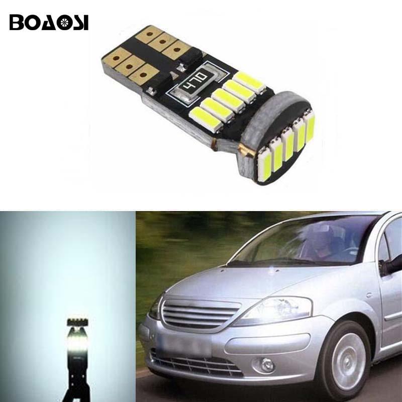 Boaosi 1x водить автомобиль T10 Canbus W5W никакой ошибки Клин свет для Citroen C4 C5 C3 Grand Picasso Berlingo Xsara saxo C1 <font><b>C2</b></font> DS3