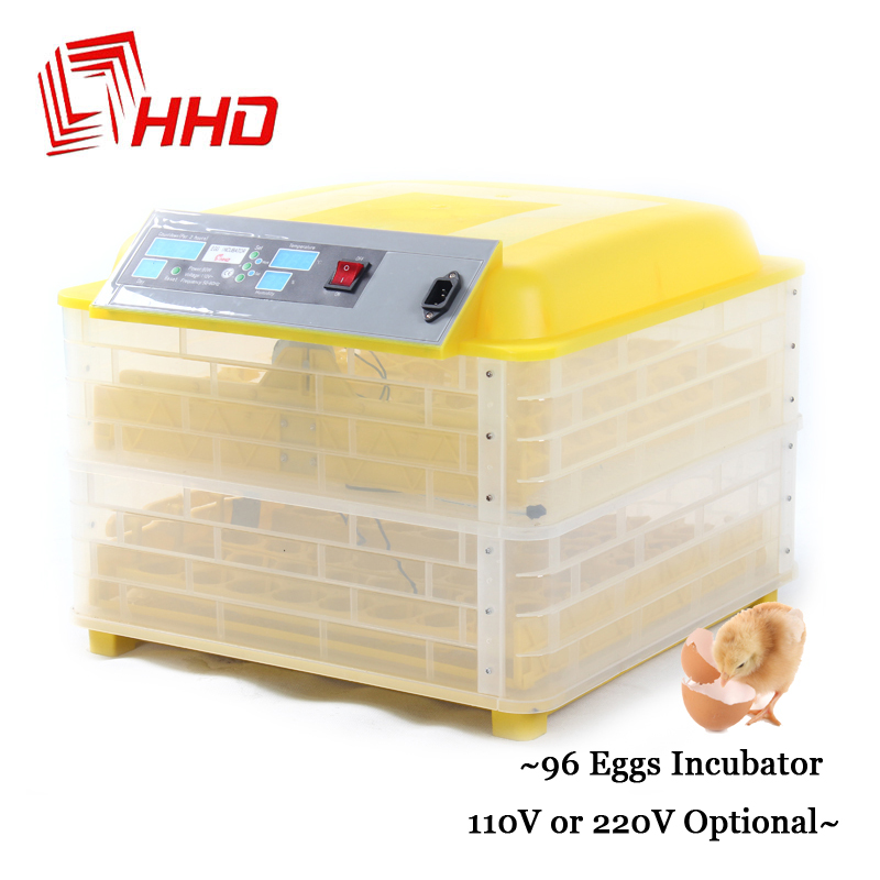 12V 220V 96 Eggs Full Automatic Egg Incubator for Chicken Duck Eggs Automatic Turn Hatchery Brooder Digital Thermostat Control