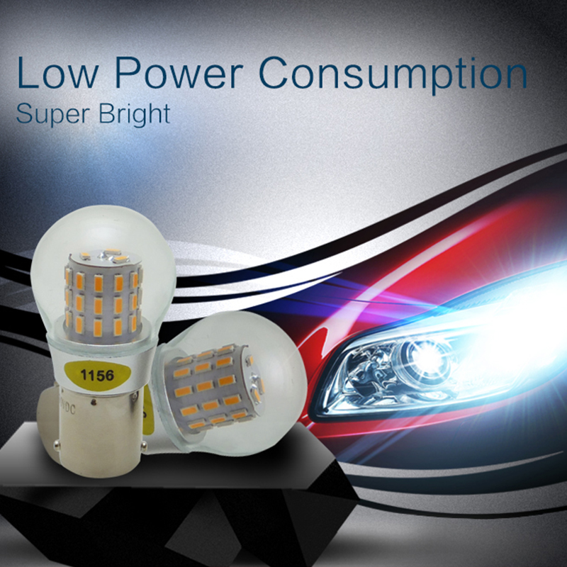 High Quality 1156 BA15S P21W 39 Light Source led 3014 Car Tail Bulb Brake Lights auto Reverse Lamp Daytime Running Light 2pcs