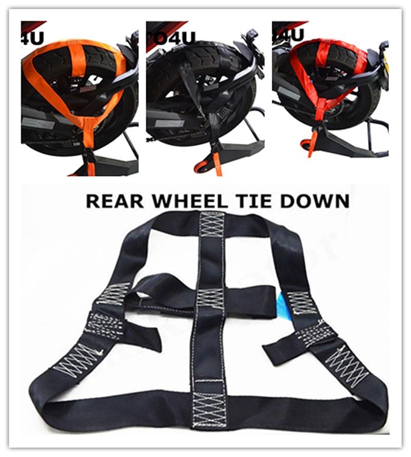 Motorbike Motorcycle REAR Wheel Handlebar Transport Bar Tie Down Strap 3 Colors