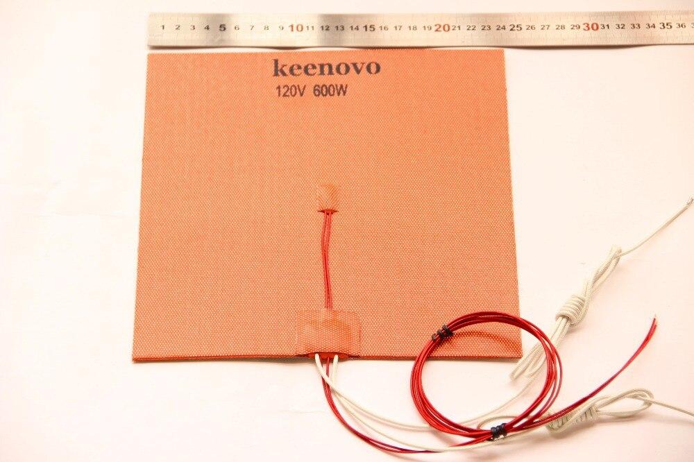 240*240, 600W @ 120 V, w/NTC 100 K thermistance, 3 M PSA Keenovo Silicone chauffage imprimante 3D chauffage, lit de chaleur, qualité de première qualité garantie