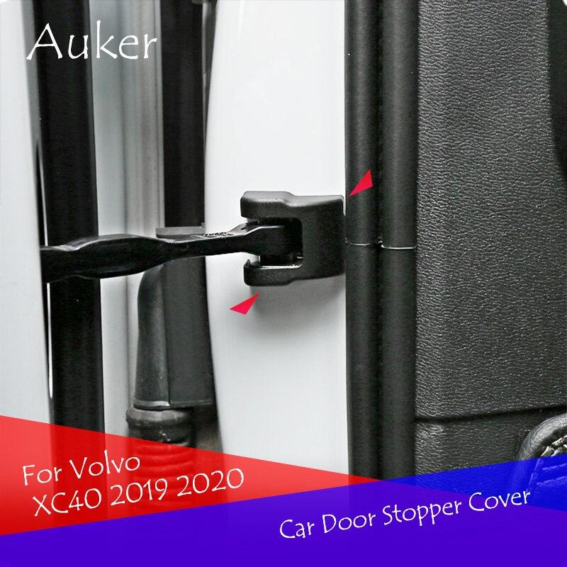 Car Styling Tampa de Proteção Rolha Porta Batente de Porta Tampa Do Carro Exterior 4 pçs/set Para Volvo XC40 XC60 XC90 V90 2017 2018 2019