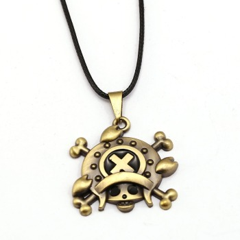 10pcs/lot One Piece Necklace Tony Tony Chopper Fashion Rope Pendant fans Anime Accessories